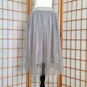 Arizona Jean Co. Grey Tulle & Sequin Skirt